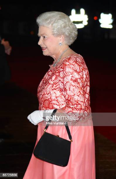 Queen Elizabeth ll attends the Cinema & Television Benevolent Fund Royal Film Performance 2008: 'A Bunch Of Amateurs' at Odeon Leicester Square on...