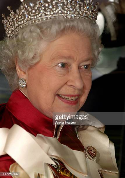 Queen Elizabeth ll attends the Order of the Bath Service at Henry VII's Chapel in Westminster Abbey on May 17 2006 The Order dates back to 1725 and...