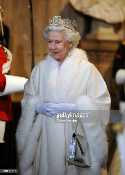 Queen Elizabeth ll attends the State Opening of Parliament on December 3 2008 in London England