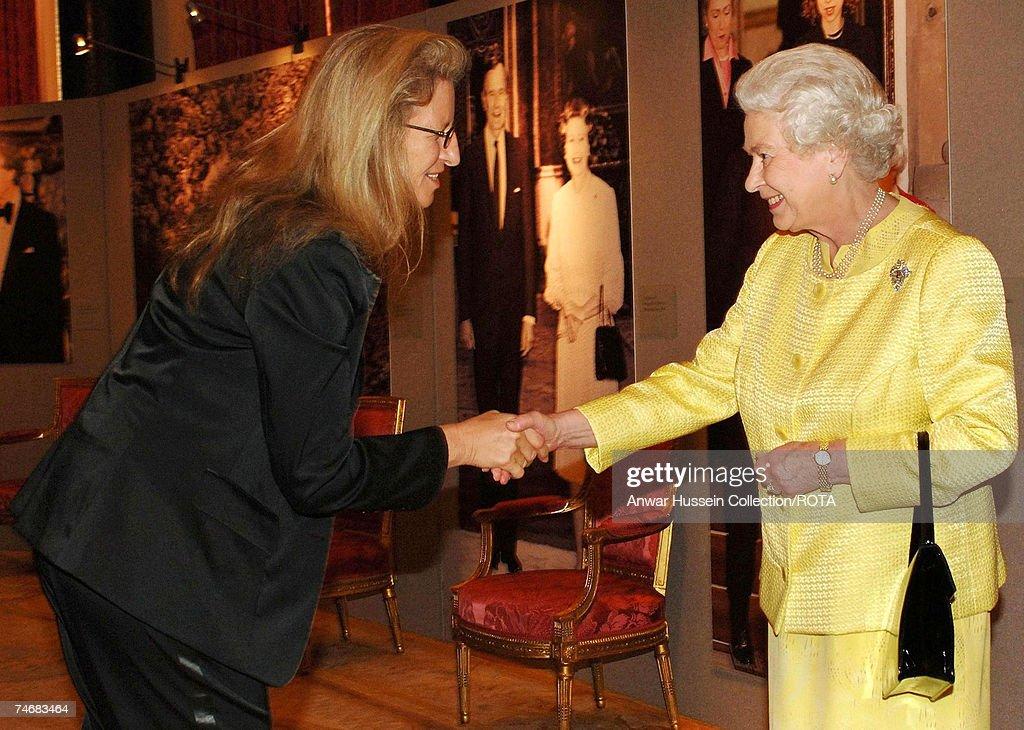 HRH Queen Elizabeth ll Hosts Reception for UK Based Americans : News Photo