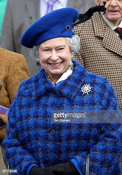 Queen Elizabeth Ll Happy And Smiling On Gold Cup Day At The Cheltenham National Hunt Festival