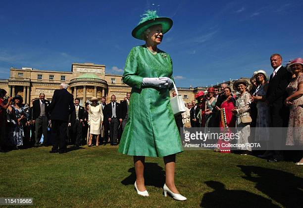 Queen Elizabeth ll hosts a Garden Party at Buckingham Palace on July 11 2006.