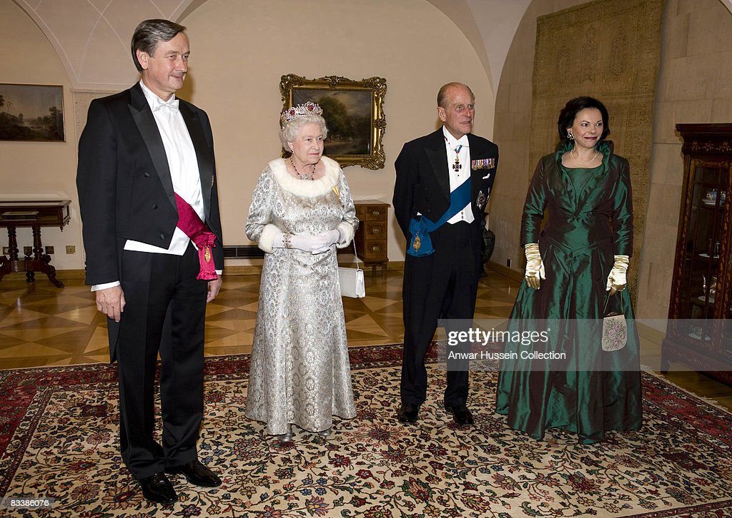 The Queen And The Duke Of Edinburgh On State Visit To Slovenia - Day 1 : News Photo