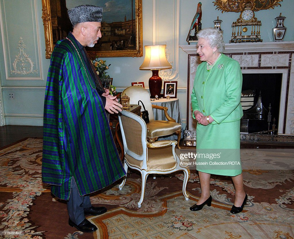 The Queen receives President of Afghanistan, Hamid Karzai, at Buckingham Palace