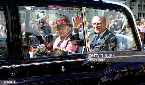 Queen Elizabeth ll undertakes a walkabout to mark her Diamond Jubilee on April 30 2012 in Windsor England
