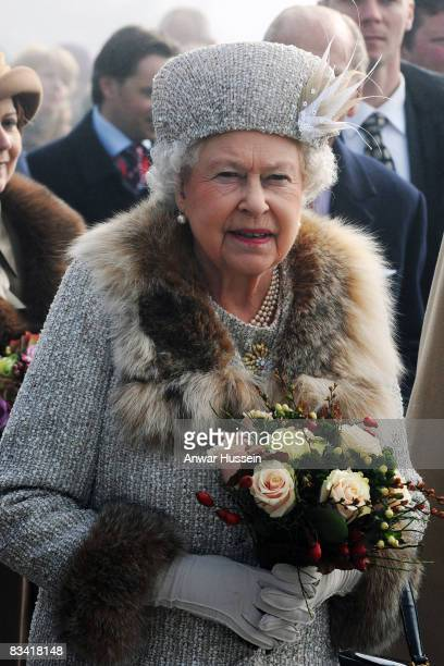 Queen Elizabeth ll visits Hrebienok Ski Resort on the second day of a tour of Slovakia on October 24 2008 in Bratislava Slovakia This is the first...