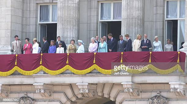 Queen Elizabeth Mother 100th Birthday Celebrations in London On balcony of Buckingham Palace with members of the Royal Family