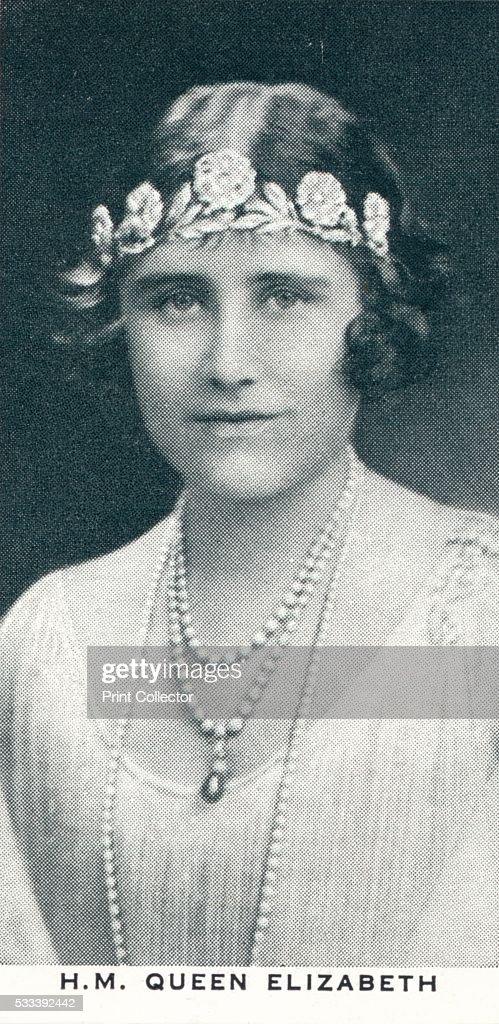 'HM Queen Elizabeth', c1930 (1937) : News Photo