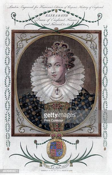 Queen Elizabeth of England Portrait of Queen Elizabeth I who reigned from 15581603 Engraved for Harrison's edition of Rapin's History of England...