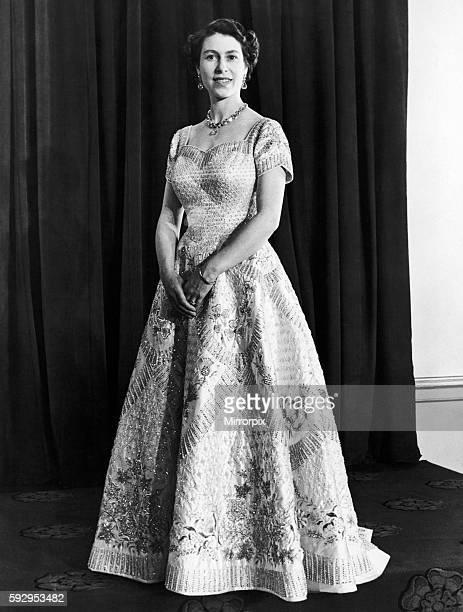 Queen Elizabeth official portrait for the Coronation 1953.