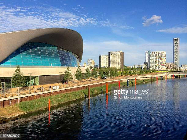 CONTENT] Queen Elizabeth Olympic Park 2012 with Aquatics Centre the Orbit and the River Lea