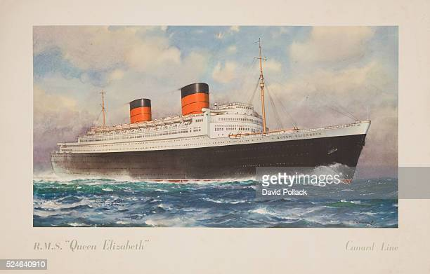 RMS Queen Elizabeth Poster by Charles E Turner