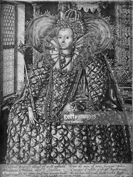 Queen Elizabeth Standing in a Room with a Lattice Window' c1592 Elizabeth I was the daughter of King Henry VIII and his second wife Anne Boleyn She...