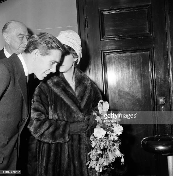 Queen Elizabeth, The Queen Mother, and Princess Margaret attend a gala charity matinee of ballet in aid of the Royal Academy of Dancing, at the...