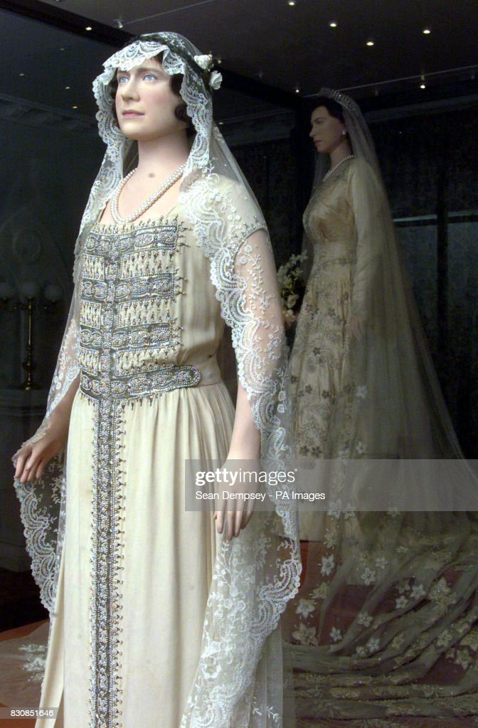 royal wedding dress exhibition pictures getty images