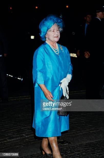 Queen Elizabeth, the Queen Mother, at the Toynbee Hall service in Westminster Abbey, London, on October 29, 1984 outside Clarence House in London.