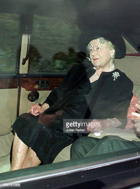 Queen Elizabeth, The Queen Mother, attends Crathie Kirk Church, near Balmoral Estate, Scotland, 31st Aug 1997, the morning after the death of Diana,...