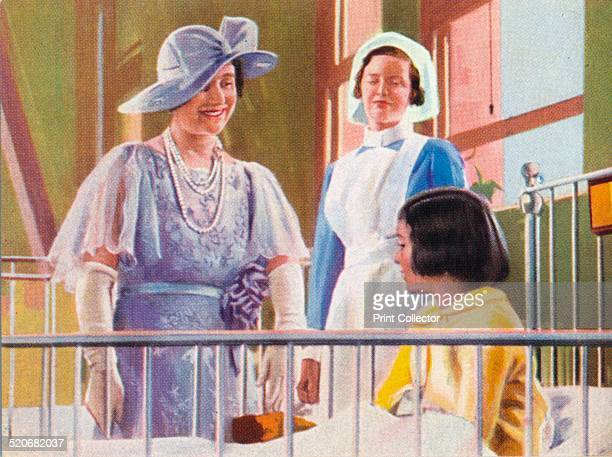 Queen Elizabeth visiting a children's ward at the Middlesex Hospital 1935 The Duke of York later King George VI visited the hospital on 26 June 1928...