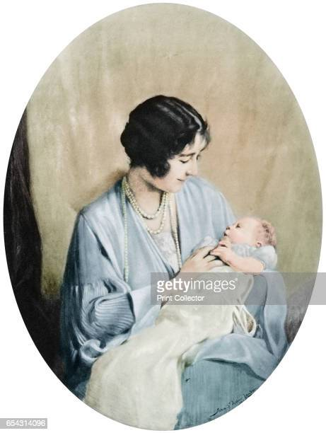 Queen Elizabeth with Princess Elizabeth in 1926 The future Queen Elizabeth II with her mother A print from the Illustrated London News Coronation...