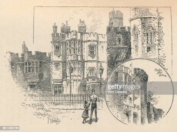 Queen Elizabeth's Library Sketch from the North Terrace' 1895 From The Governor's Guide to Windsor Castle by the Most Noble The Marquis of Lorne KT...