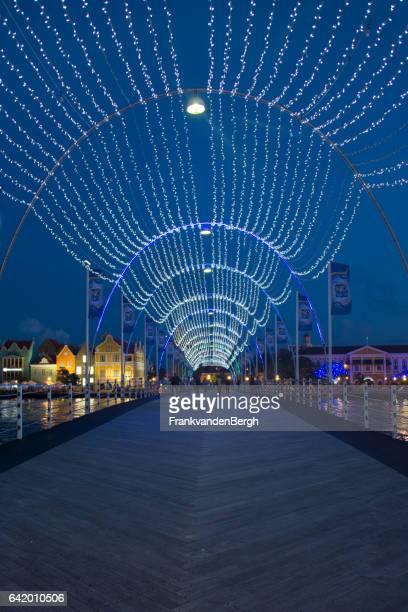 Queen Emma pontoon Bridge by night