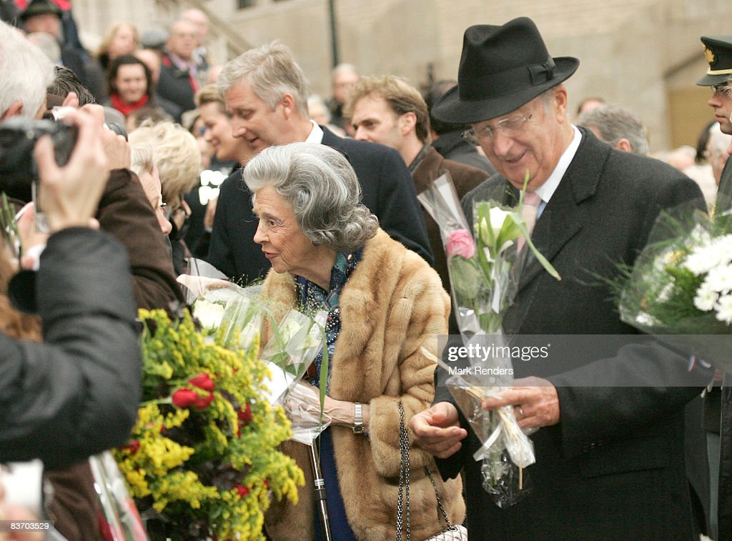 Belgium Royals Attend Mass at Saints Michel Cathedral During Kings Day