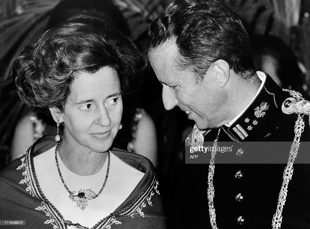 Queen Fabiola and King Baudouin of Belgi : News Photo