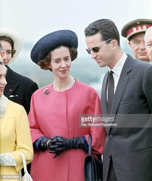 Queen Fabiola and King Baudouin of Belgium in Antwerp, circa 1966.