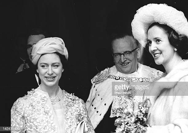 Queen Fabiola and King Bauduoin of Belgium with Princess Margaret in LondonEngland