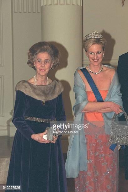Queen Fabiola and Princess Astrid of Belgium