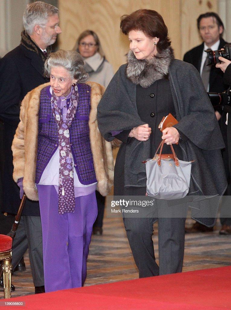 Belgian Royal Family Members Attend Memorial Mass For Deceased Royals