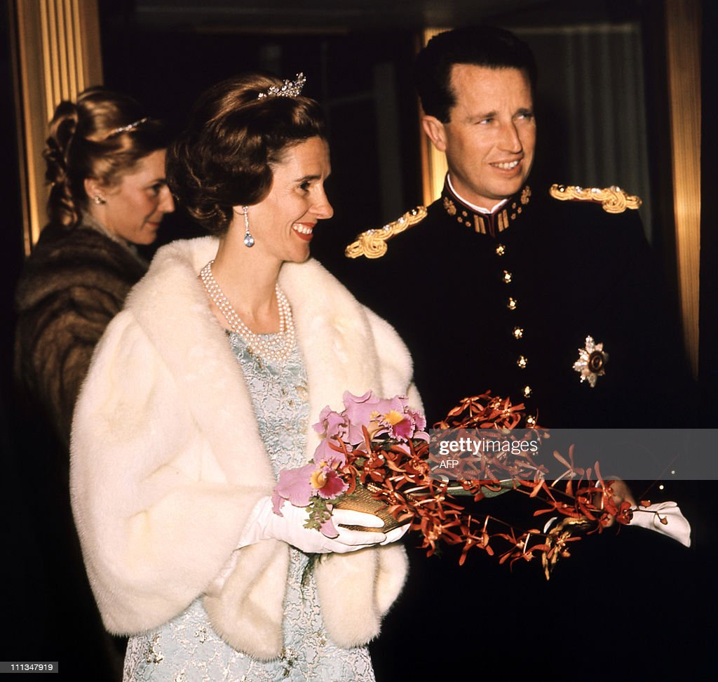 Queen Fabiola of Belgium and Belgian Kin : News Photo