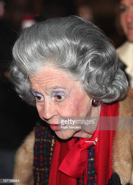 Queen Fabiola of Belgium attends a tribute to Sister Leontine at Clinique SaintJean on November 26 2010 in Brussels Belgium