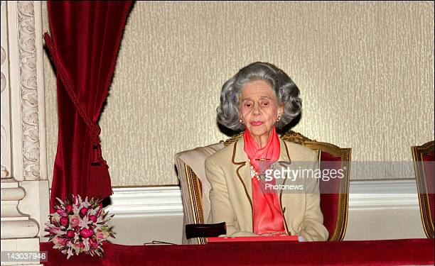 Queen Fabiola of Belgium attends the first round of the International Musical Contest on May 82008 in BrusselsBelgium