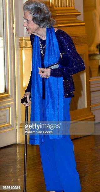Queen Fabiola of Belgium attends the traditional Autumn concert at the Royal Palace of Brussels.