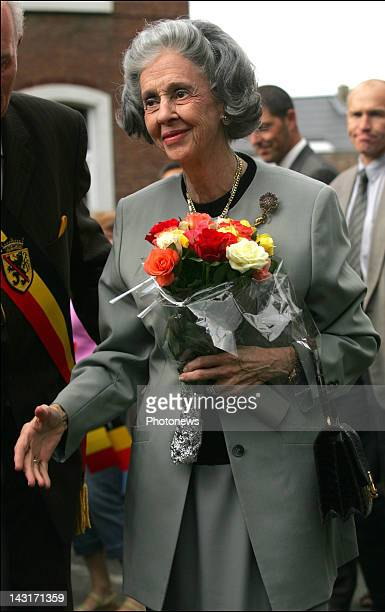 Queen Fabiola of Belgium visits the Superior Institute for Music and Pedagogy of Namur
