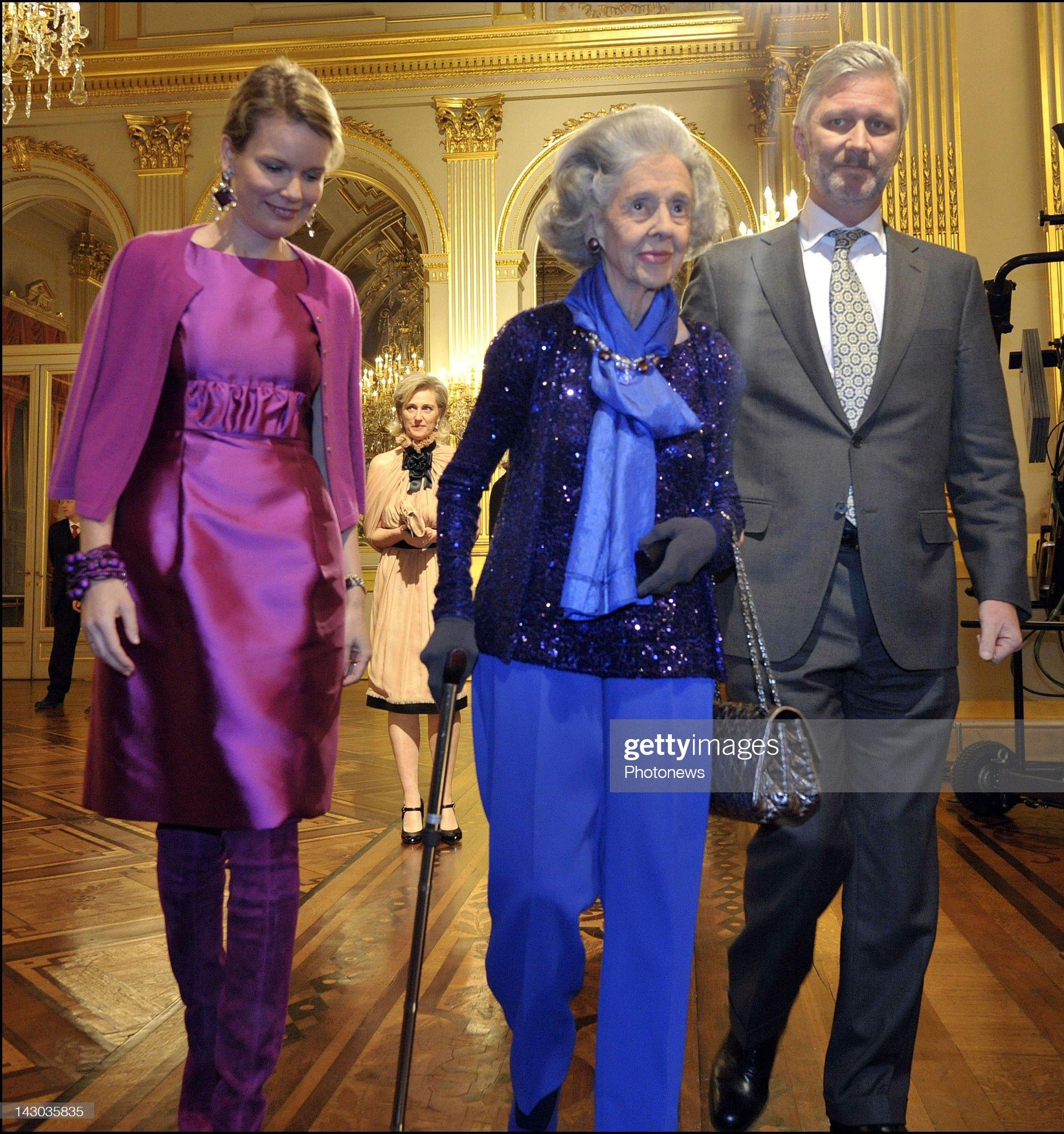 Вечерние наряды Королевы Матильды Queen Fabiola of Belgium : News Photo
