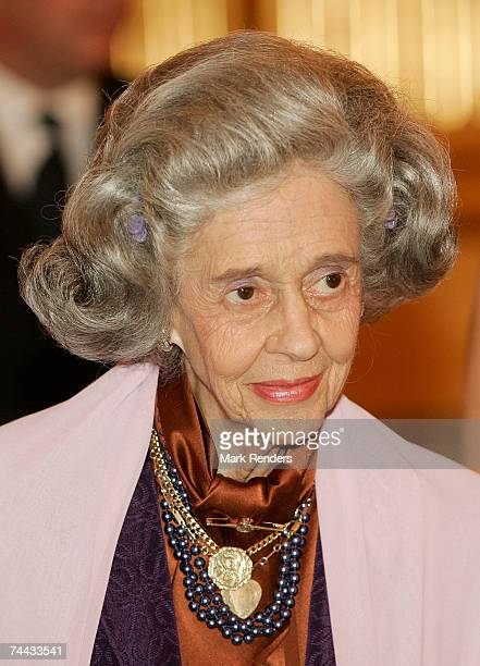Queen Fabiola of the Belgian Royal family arrives at the European Festivals Association Concert at the Royal Palace on June 7 2007 in Brussels Belgium