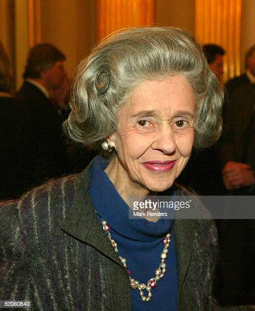 Queen Fabiola of the Belgium Royal Family attends a reception at the Royal Palace on January 25 2005 in Brussels Belgium The event sees some of the...