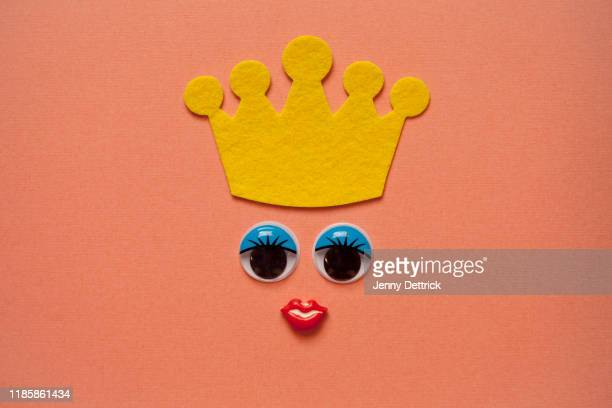queen face - crown stock pictures, royalty-free photos & images