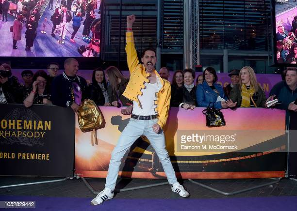 Queen fans attend the World Premiere of 'Bohemian Rhapsody' at SSE Arena Wembley on October 23 2018 in London England