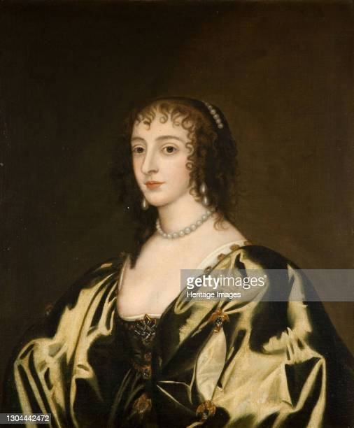 Queen Henrietta Maria, 1770. 18th-century copy of the 17th-century original, after Sir Anthony van Dyck. Noted with object description - Probably...