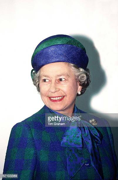 Queen In Bonn During A State Visit To Germany Wearing A Suit Hat By Designer Ian Thomas