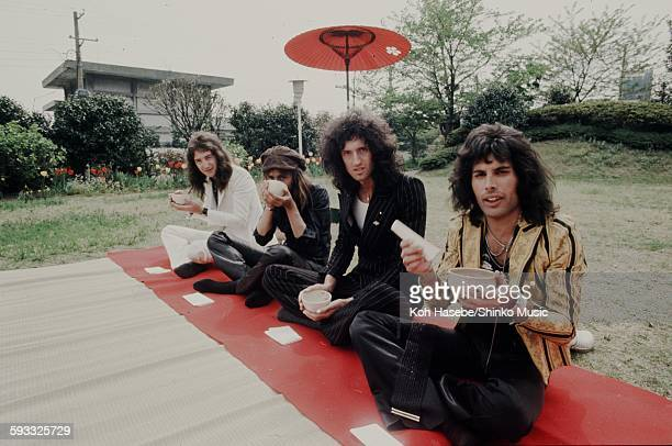 Queen in the hotel garden Tokyo April 22 1975