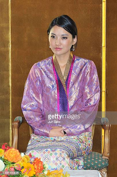 Queen Jetsun Pema of Bhutan attends the Japan Bhutan friendship reception at the New Otani Hotel on November 17 2011 in Tokyo Japan
