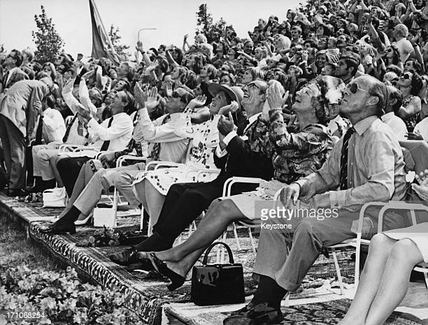 Queen Juliana of the Netherlands and Prince Bernhard during celebrations of the Queen's silver jubilee at Tilburg, Netherlands, 6th September 1973....