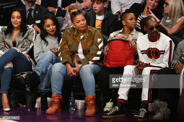 Queen Latifa attends The 67th NBA AllStar Game Team LeBron Vs Team Stephen at Staples Center on February 18 2018 in Los Angeles California