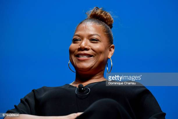 Queen Latifa speaks onstage during the PG session at the Cannes Lions Festival 2018 on June 20 2018 in Cannes France