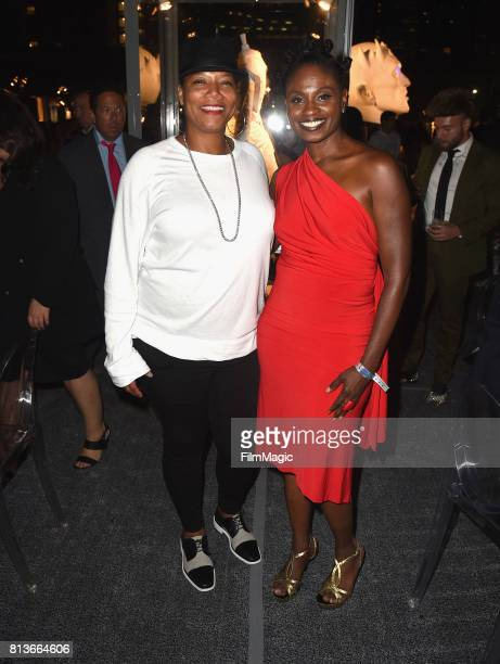 Queen Latifah and actor Adina Porter at the Los Angeles Premiere for the seventh season of HBO's 'Game Of Thrones' at Walt Disney Concert Hall on...