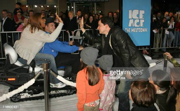 Queen Latifah and Director Carlos Saldanha during 20th Century Fox's Ice Age The Meltdown Los Angeles Premiere Arrivals at Mann's Grauman Chinese...